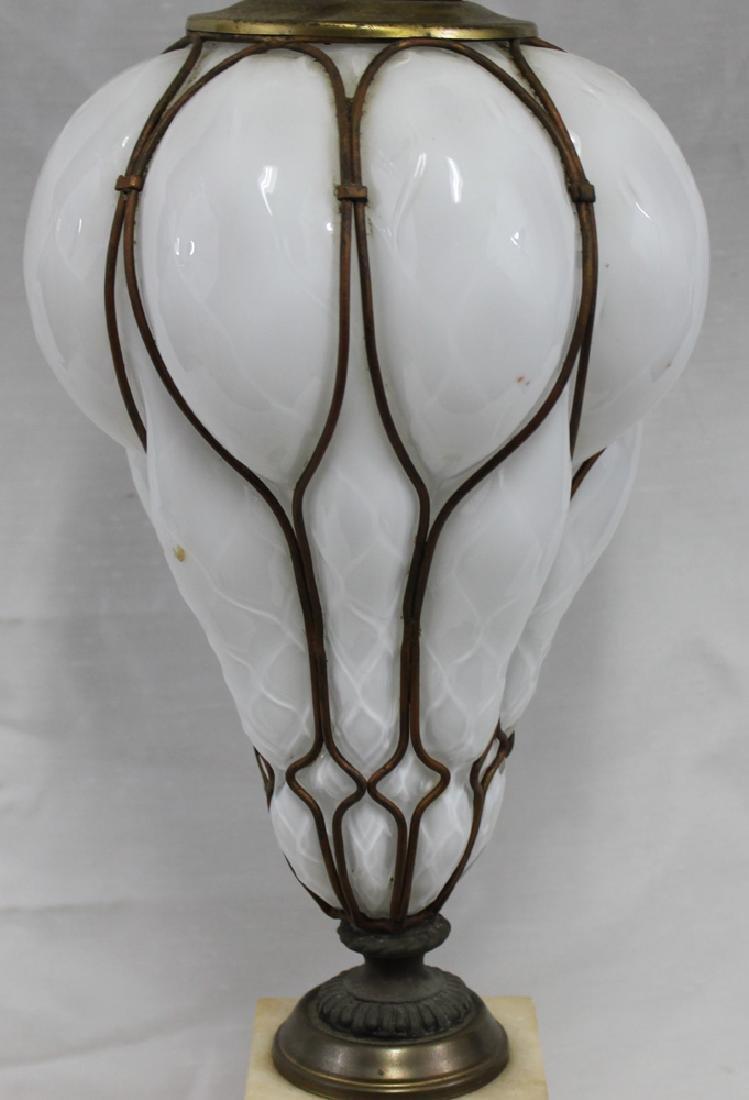 Italian Murano Mid Century Glass Lamp Base. - 2