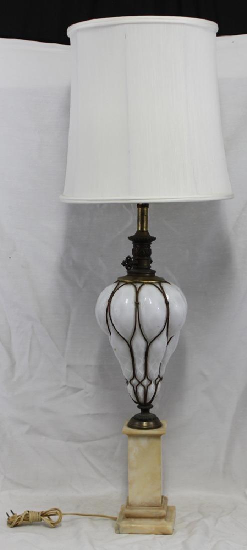 Italian Murano Mid Century Glass Lamp Base. - 7