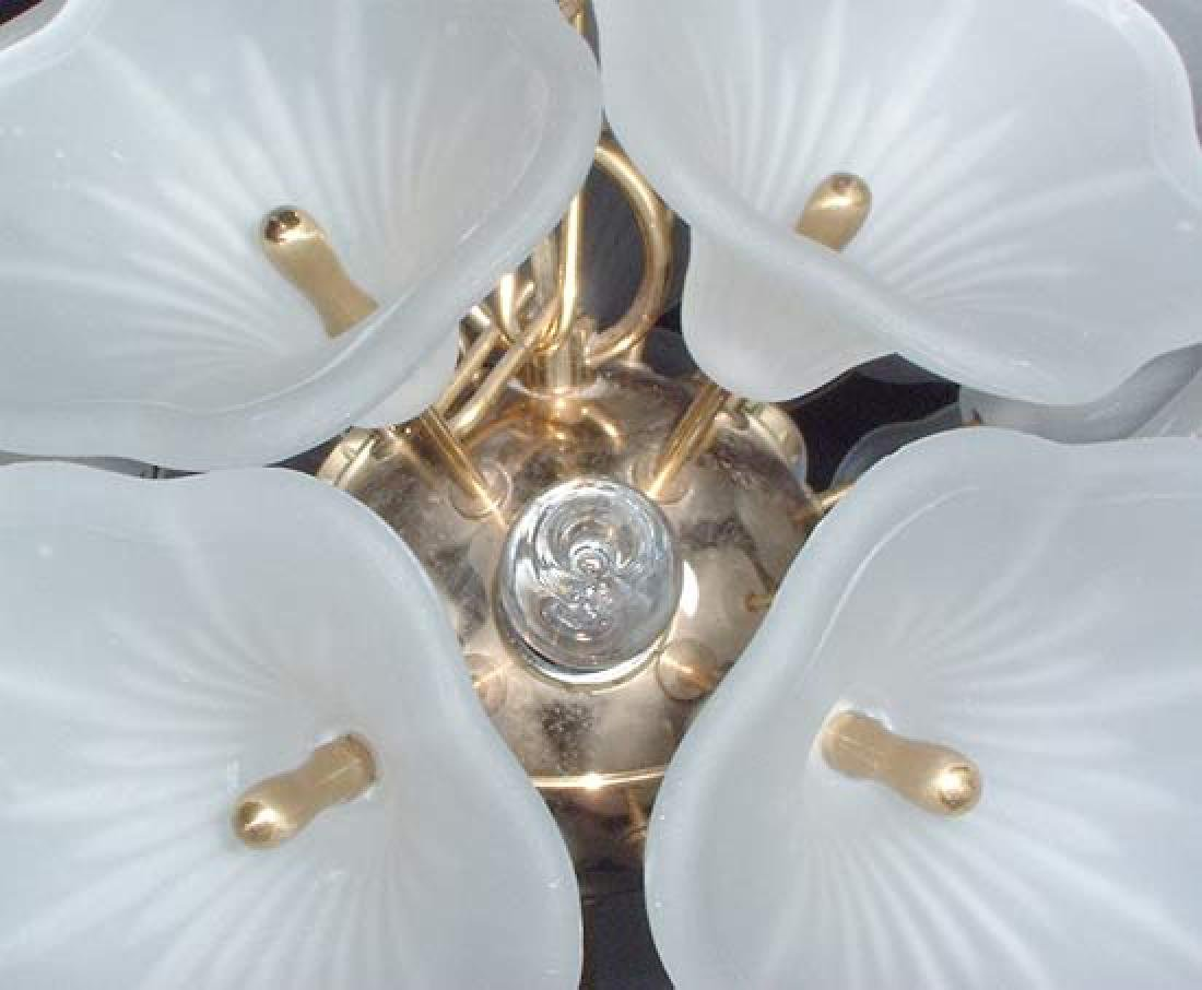 Frosted Glass Chandelier. Circa 1950s. - 4