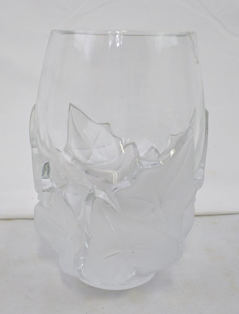 Lalique Clear and Frosted Glass Vase