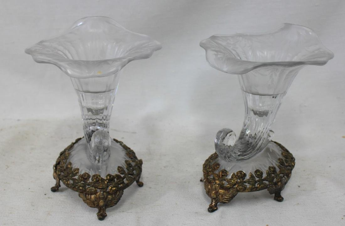 Pair Made by the Fenton Art Glass Co in the 1920-30's.