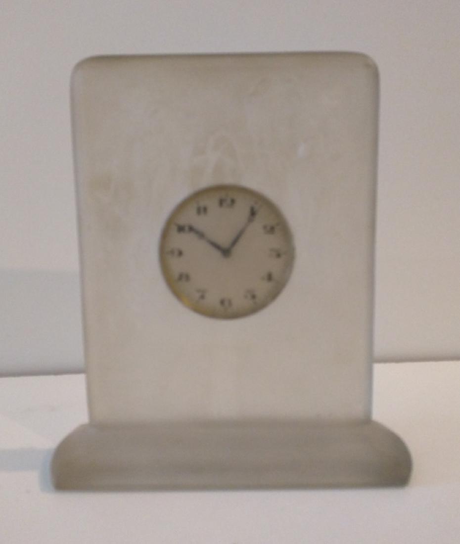 Lalique Clock Six Hirondelles Perchees