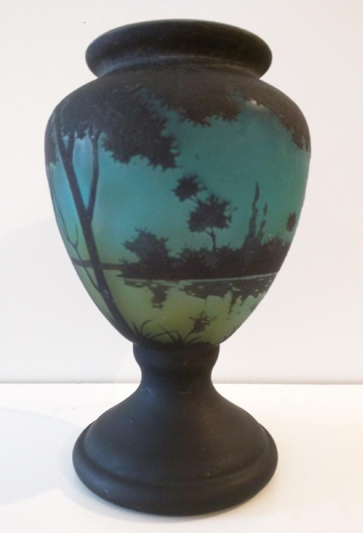 French Cameo Glass Daum Nancy Vase.