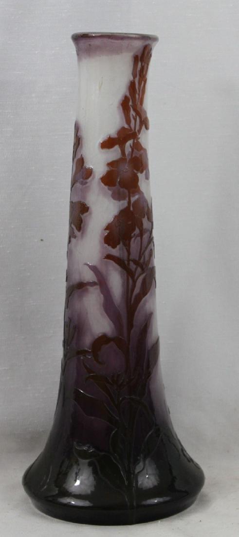 Large French Art Nouveau Galle Vase