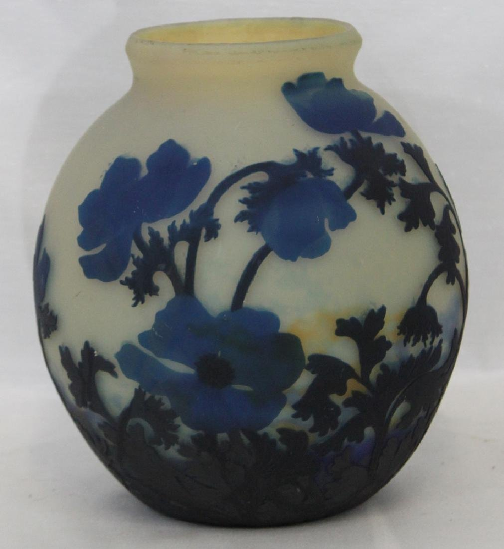 A CAMEO GLASS VASE BY MULLER FRÈRES