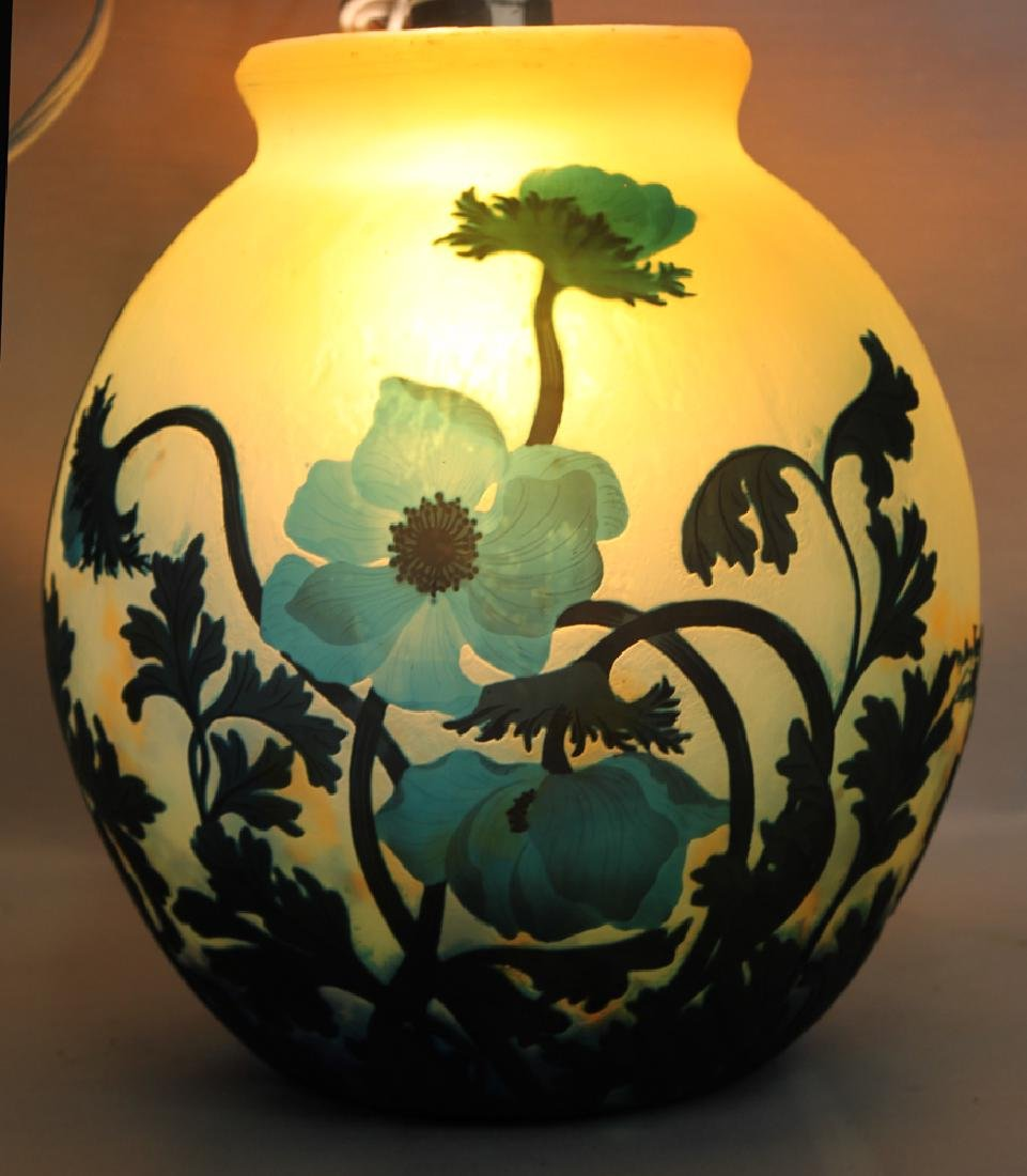 A CAMEO GLASS VASE BY MULLER FRÈRES - 4