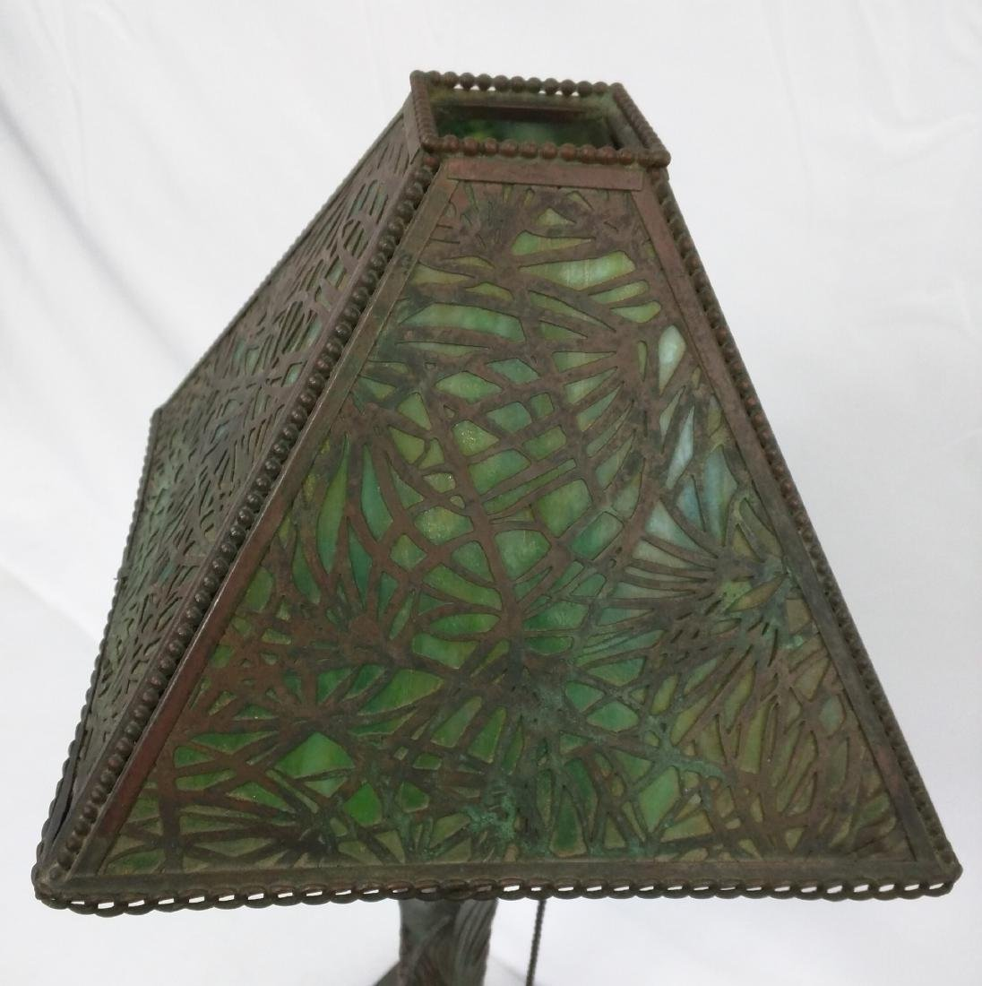 American patinated bronze and glass 'Pine Needles' - 3