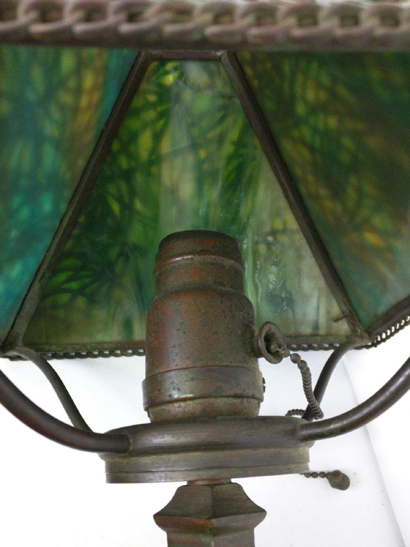 American patinated bronze and glass 'Pine Needles' - 6