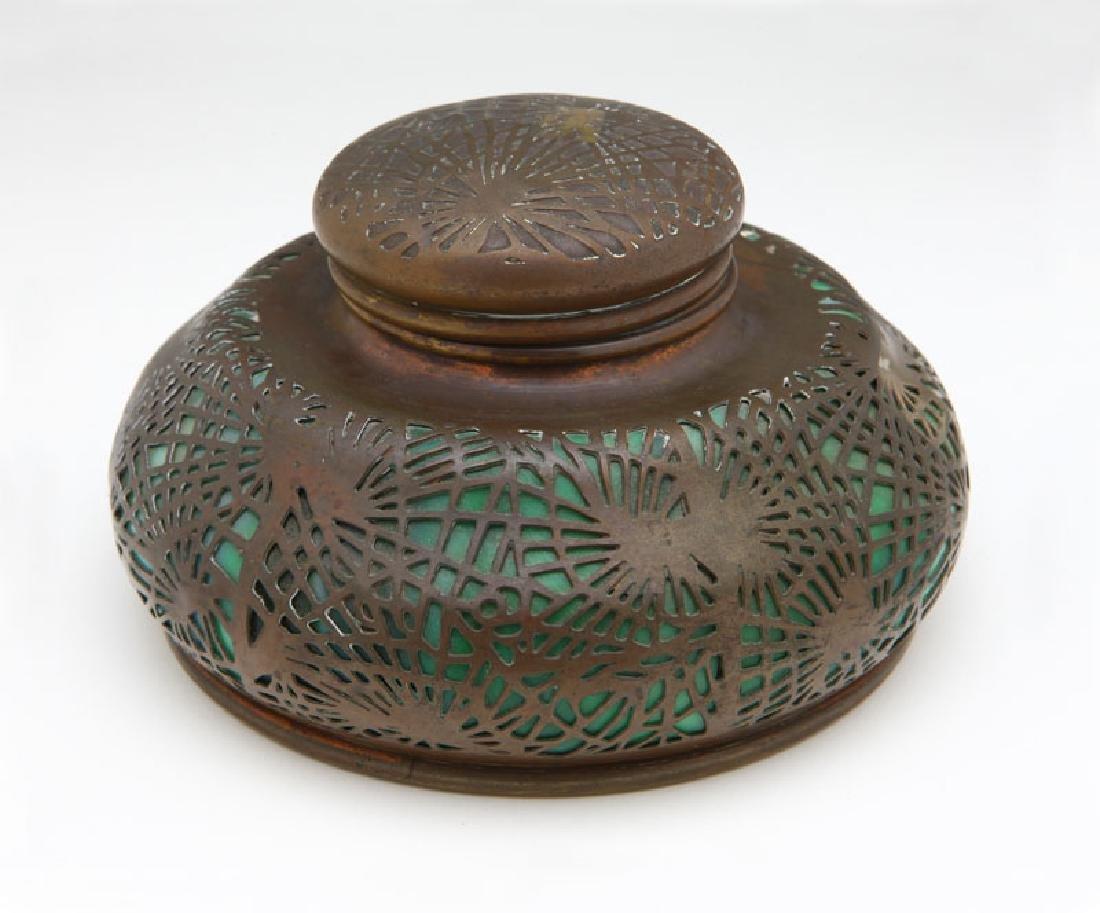 Tiffany Studios Patinated Bronze & Glass Pine Needles