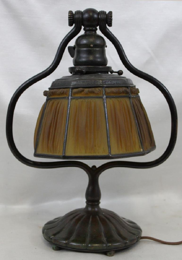 Tiffany Studios lamp. Shade and Base Stamped