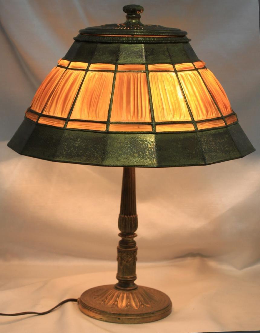 Tiffany Studios Adams Pattern Desk Lamp Base with - 2