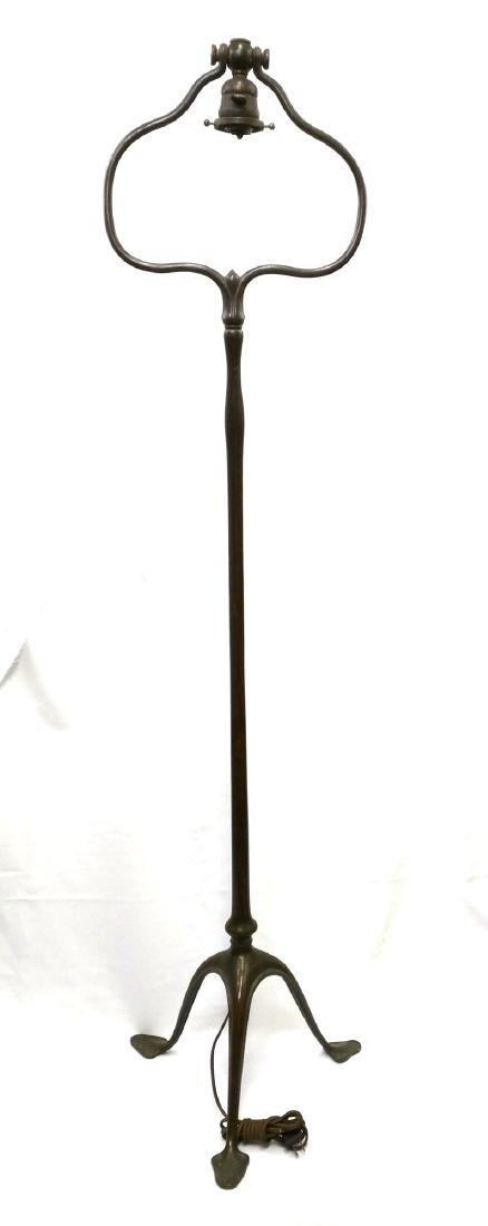 Tiffany Studios Double Harp Bronze Floor Lamp Base