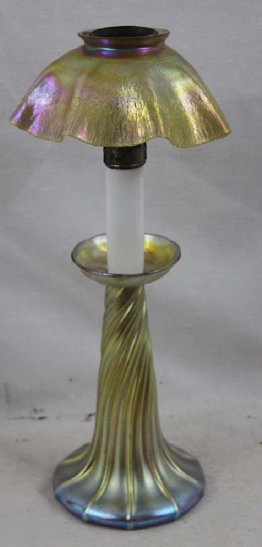Louis Confort Tiffany Favrile Candle Stick Lamp