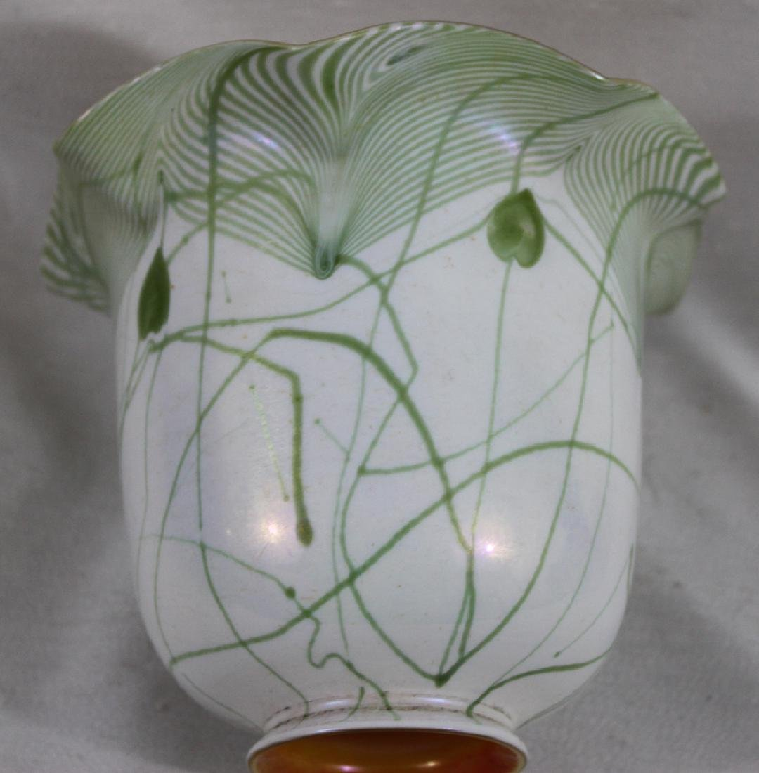 Tiffany Favrile Glass Decorated Lamp Shade - 4