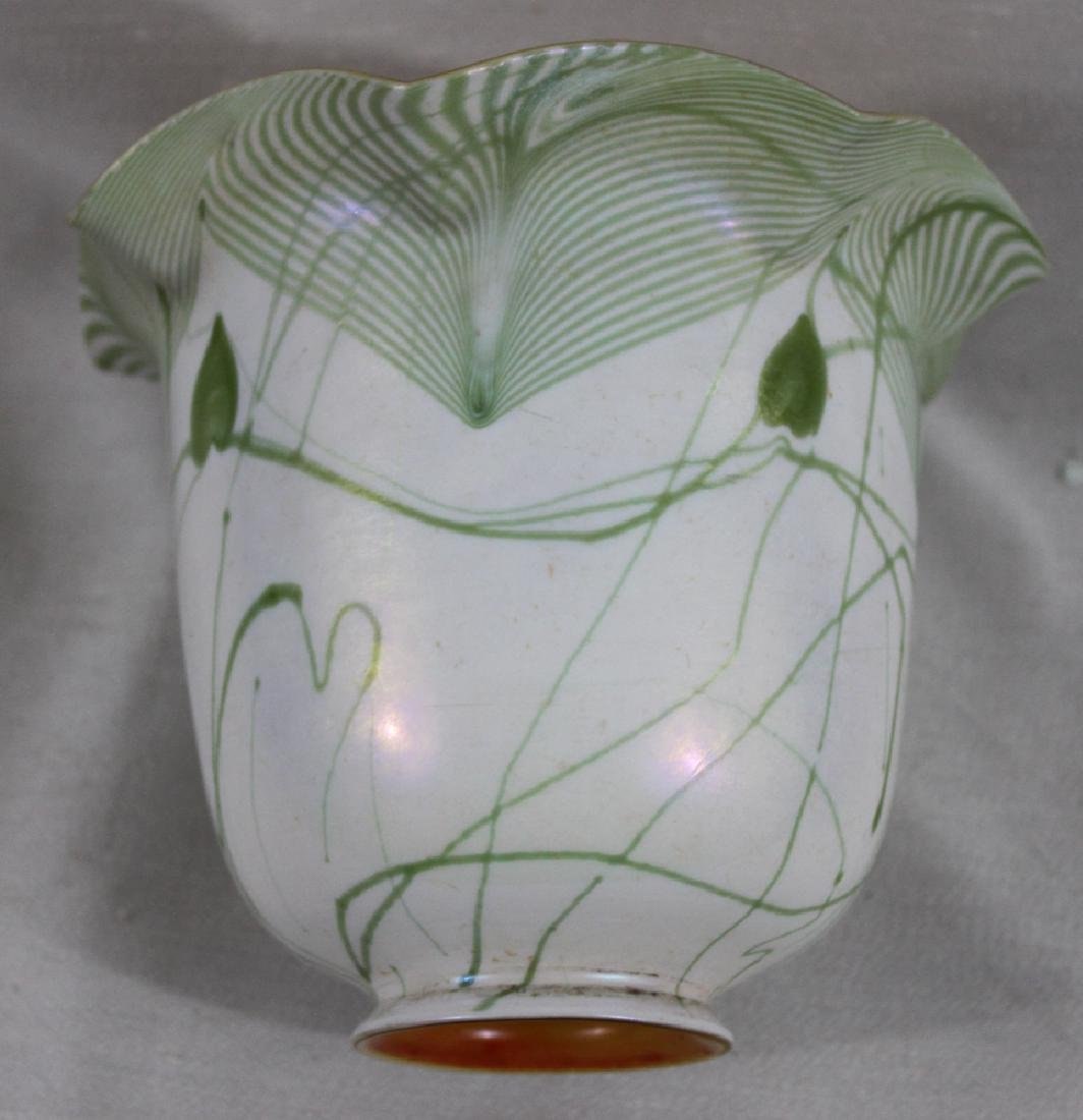 Tiffany Favrile Glass Decorated Lamp Shade - 5