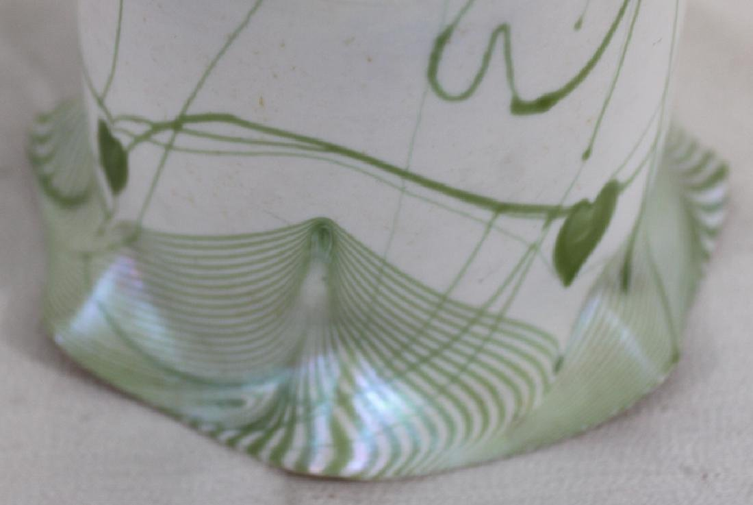 Tiffany Favrile Glass Decorated Lamp Shade - 6