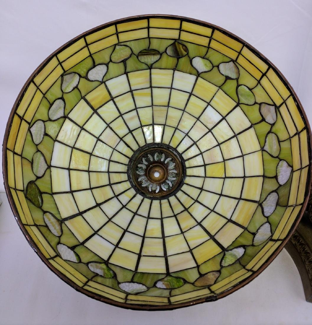 American Stained Glass Lamp and Base - 11