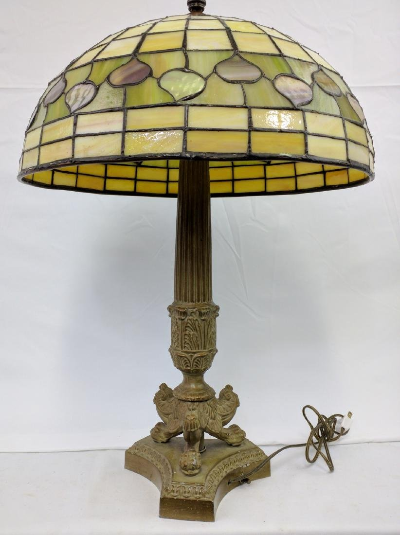 American Stained Glass Lamp and Base