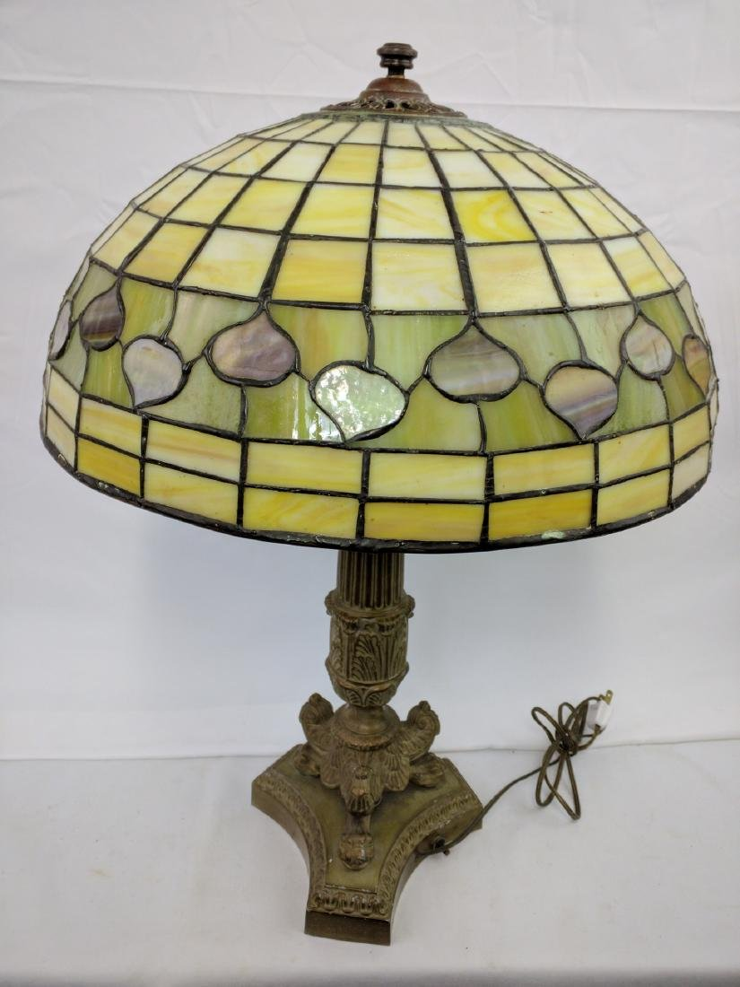 American Stained Glass Lamp and Base - 2
