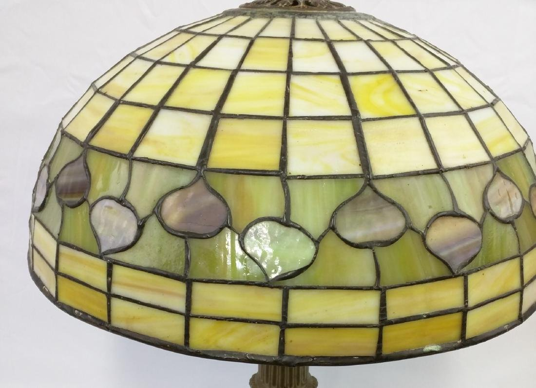 American Stained Glass Lamp and Base - 3