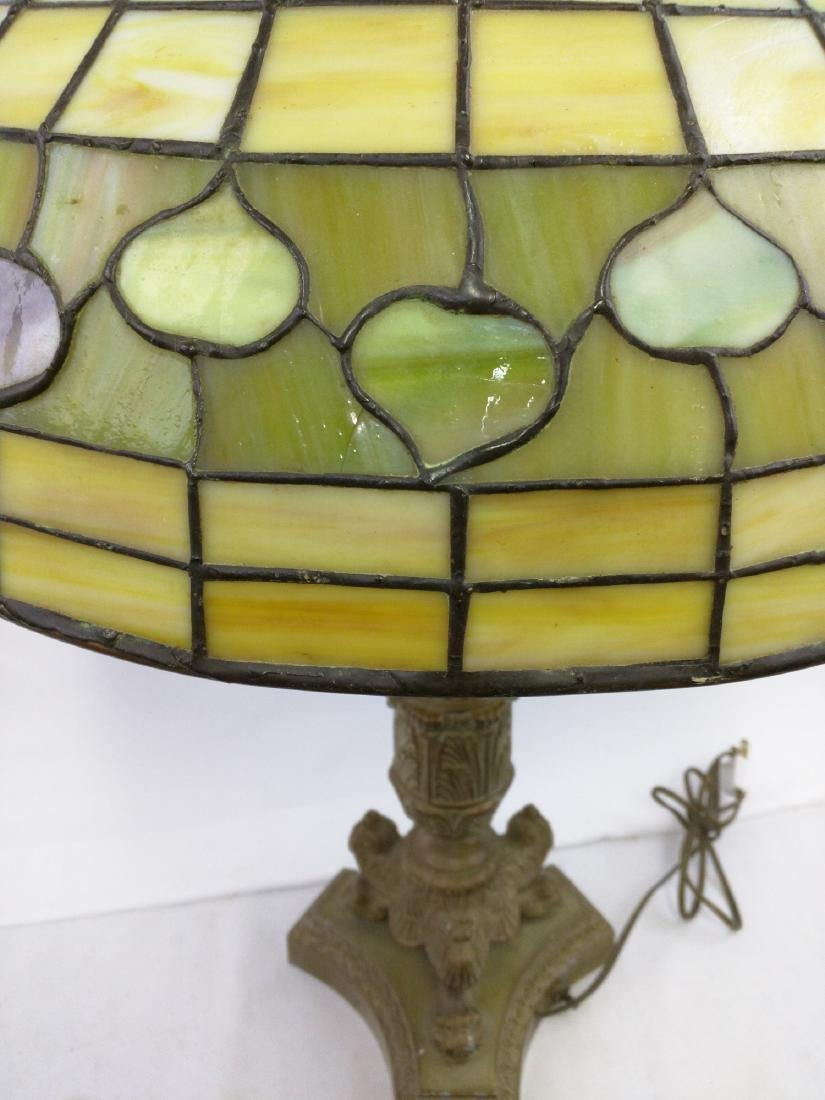 American Stained Glass Lamp and Base - 5