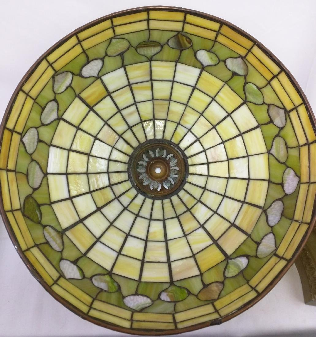 American Stained Glass Lamp and Base - 6