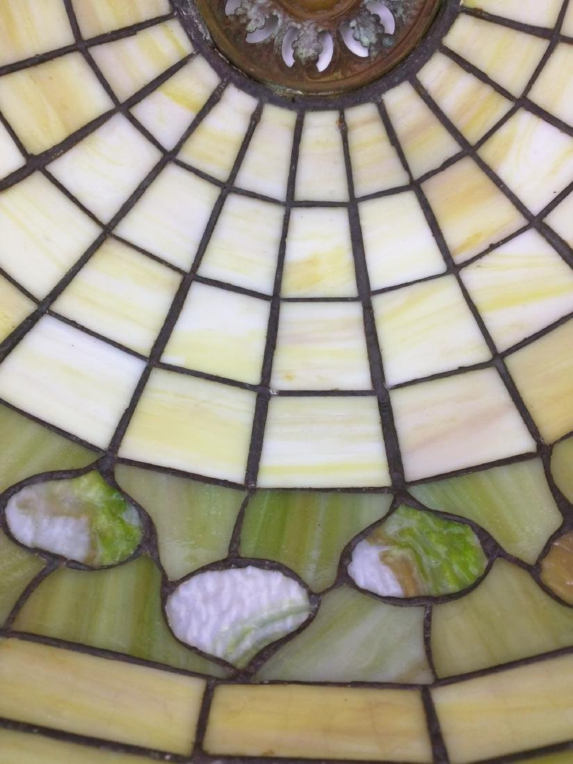 American Stained Glass Lamp and Base - 8