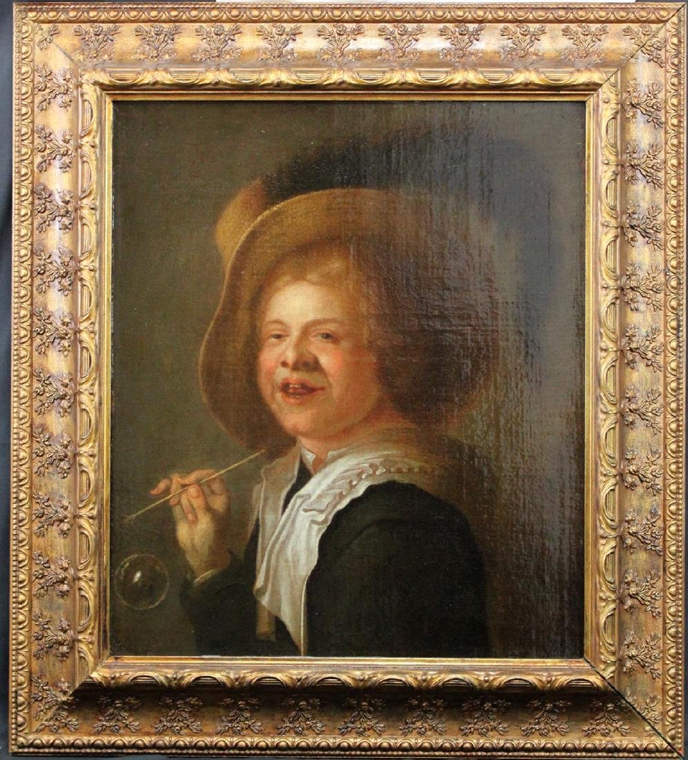 Early 18th Century Oil on Canvas Painting