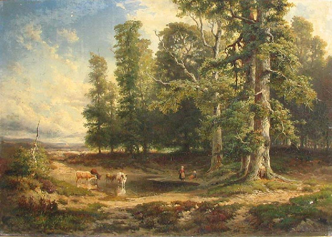 19 Century European Landscape Painting by Frommel Otto - 2
