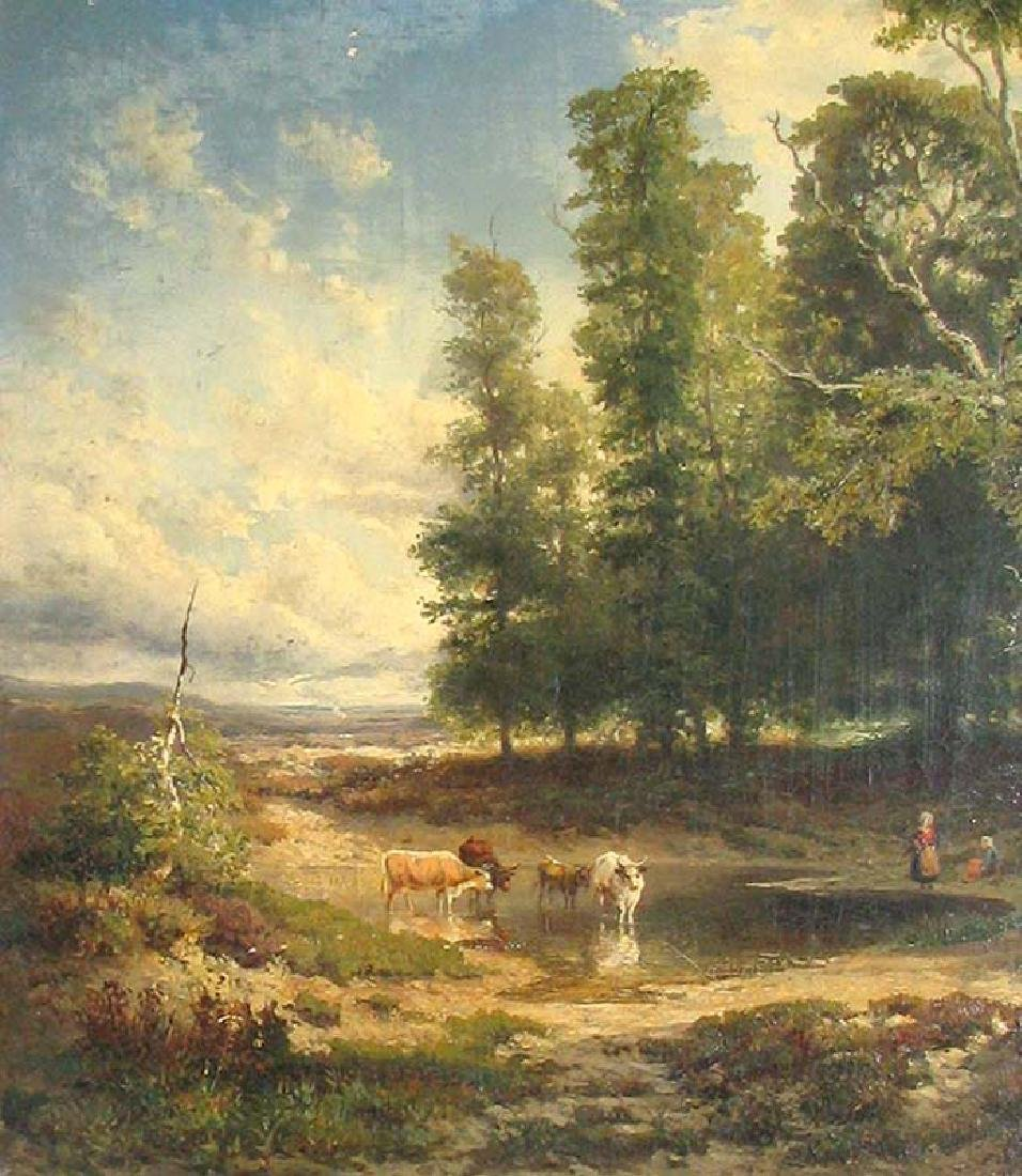19 Century European Landscape Painting by Frommel Otto - 4