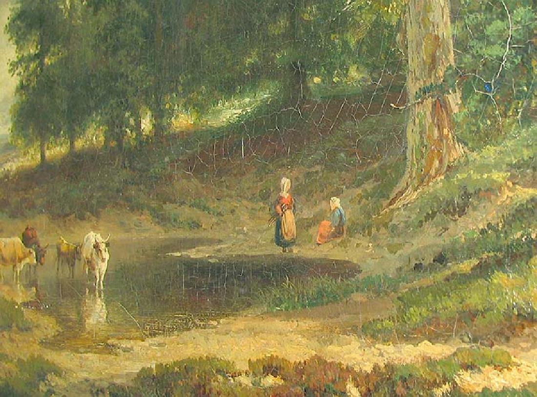 19 Century European Landscape Painting by Frommel Otto - 5