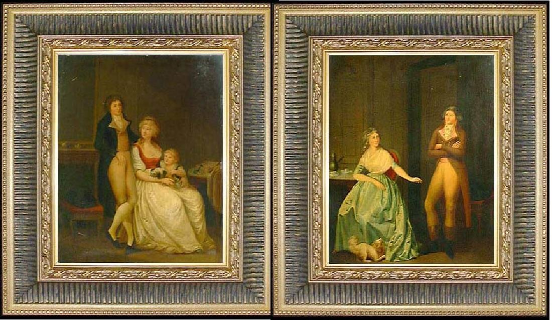 Attributed to Louis Leopold Boilly Pair of 18th Century