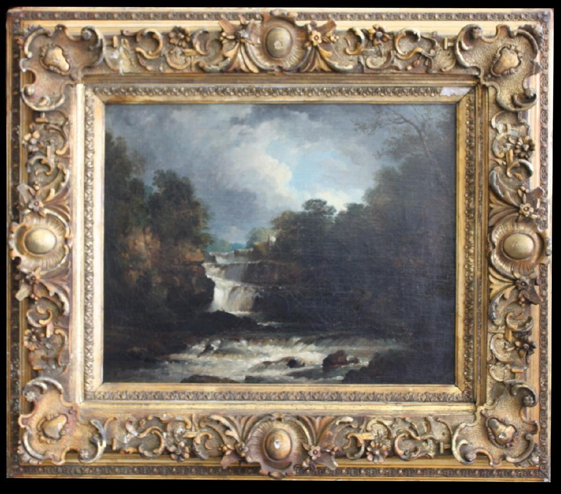 19th Century French Barbizon School Oil On Canvas