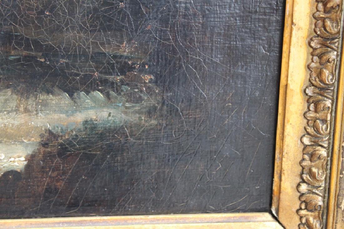 19th Century French Barbizon School Oil On Canvas - 4