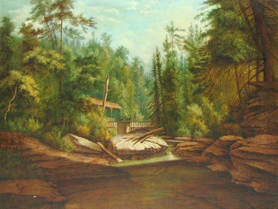 19 Century American Hudson River School Oil On Canvas - 2