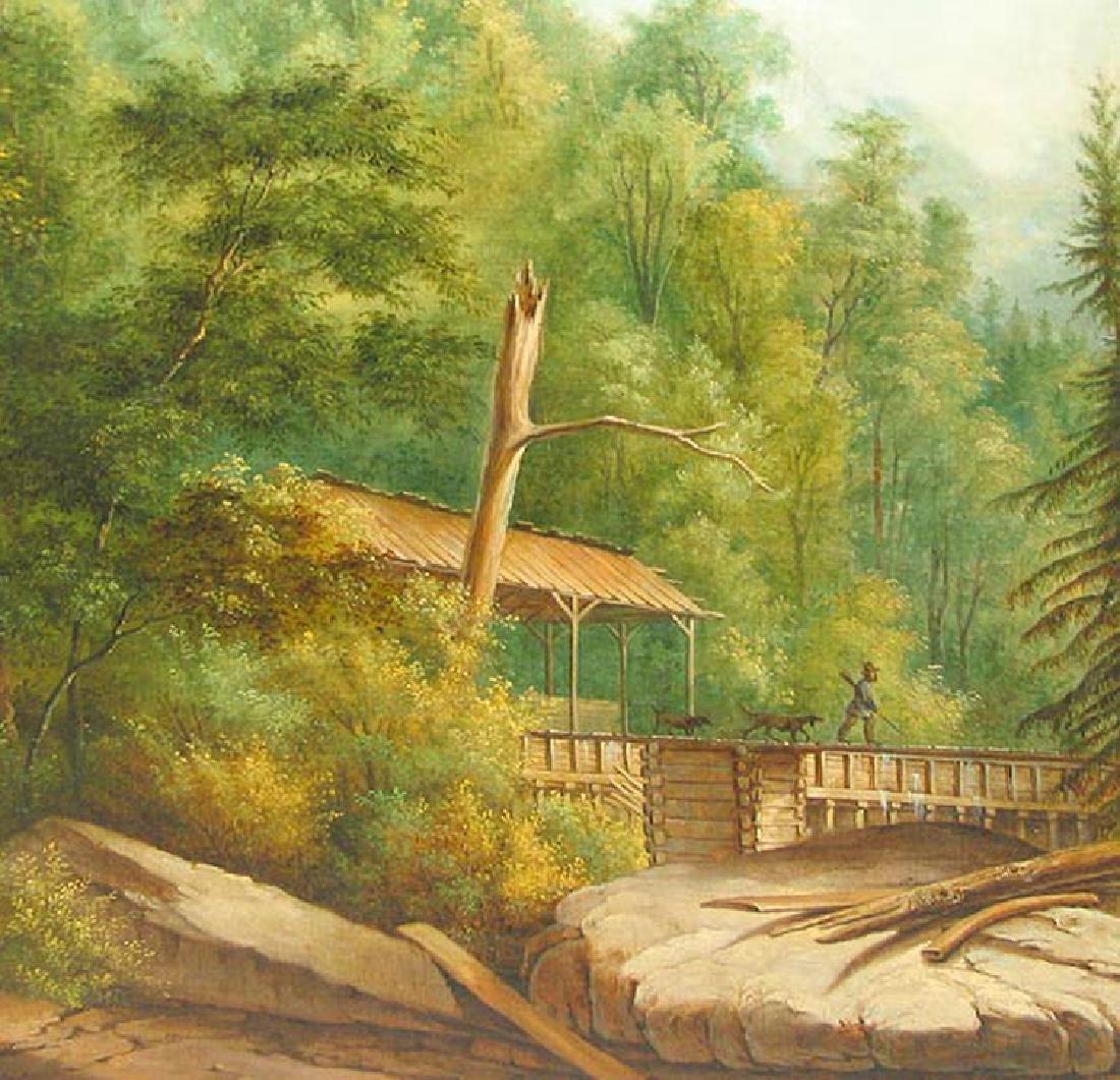 19 Century American Hudson River School Oil On Canvas - 3