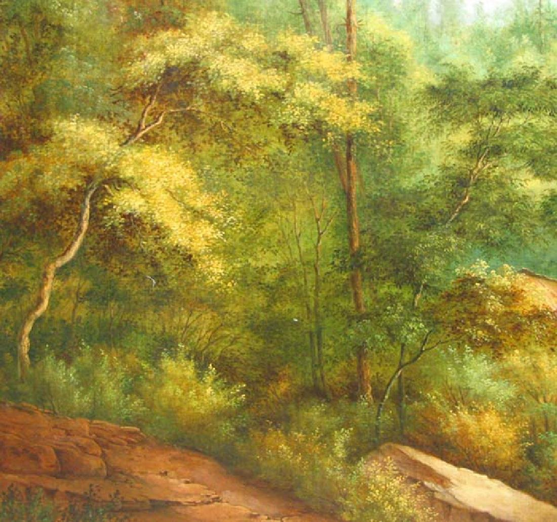 19 Century American Hudson River School Oil On Canvas - 4