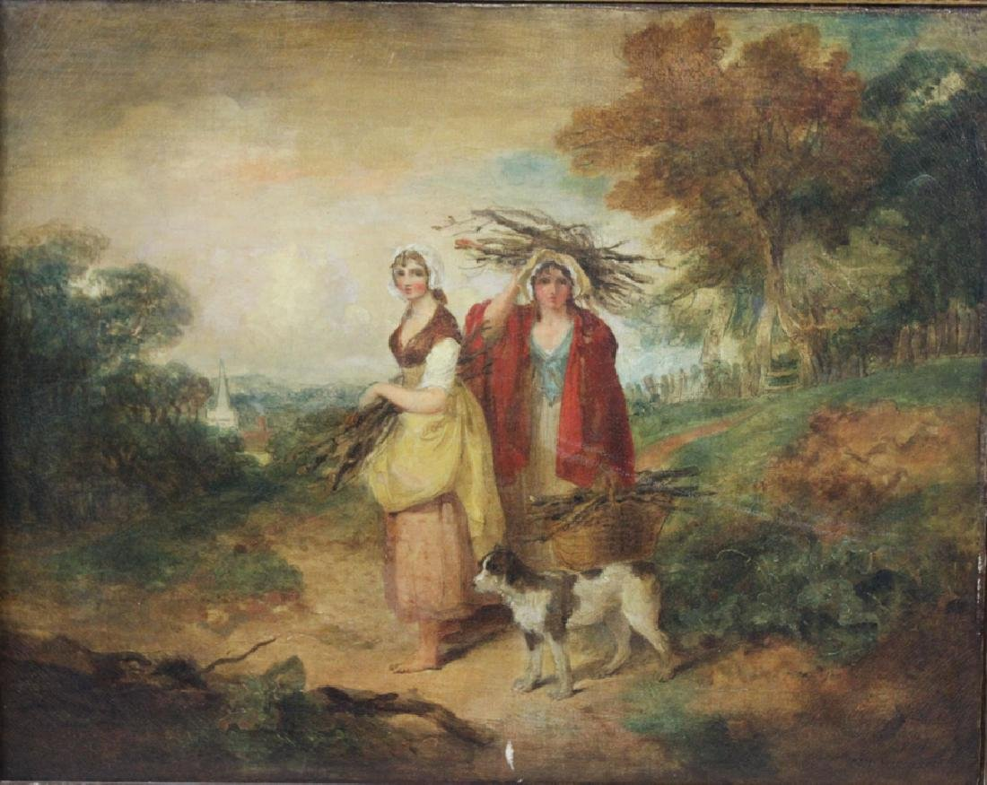 Oil on Canvas Painting Attributed to Francis Wheatley - 2