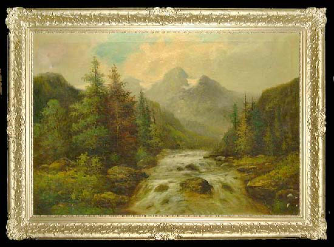 Oil On Canvas Landscape Painting By Kagon