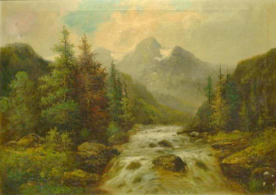 Oil On Canvas Landscape Painting By Kagon - 2