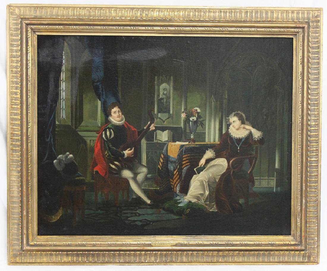 19 Century Oil on Canvas Painting Attributed to H.