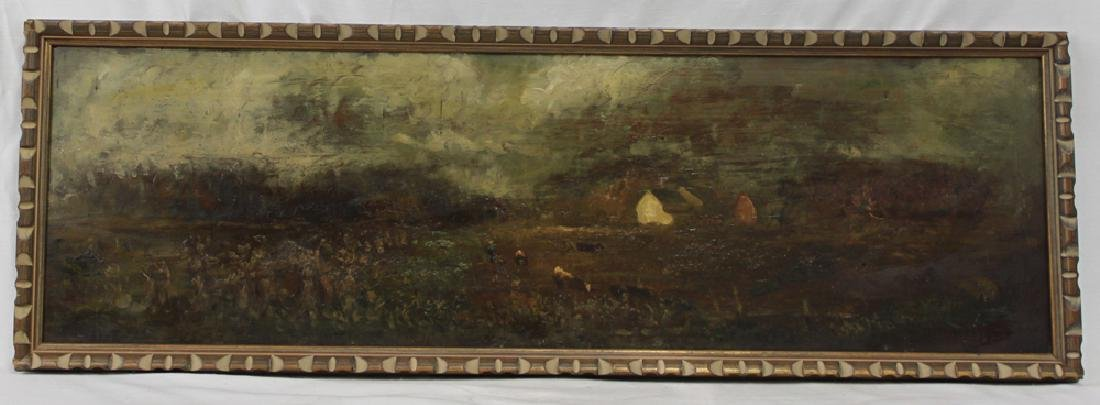American Oil on Panel Painting by Charles Henry Miller