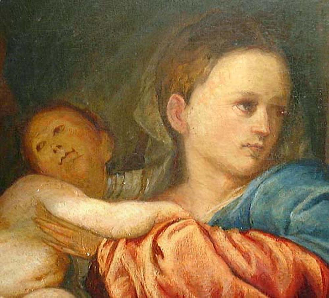 After Titian Oil on Canvas Painting of Madonna and - 3