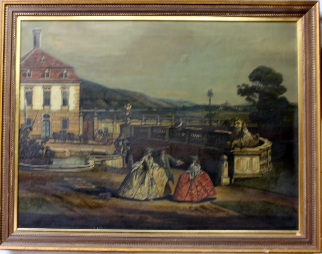 Early 20th Century Oil on Canvas Painting by Hermim