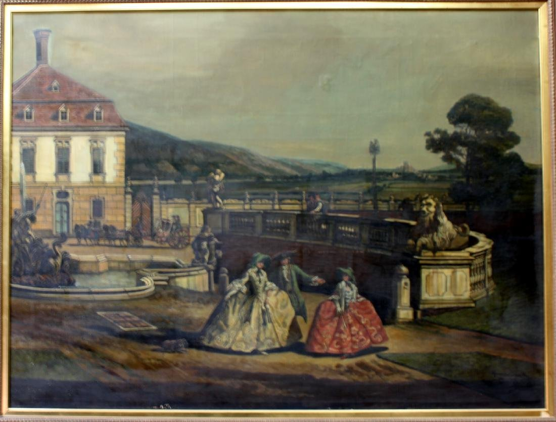 Early 20th Century Oil on Canvas Painting by Hermim - 2