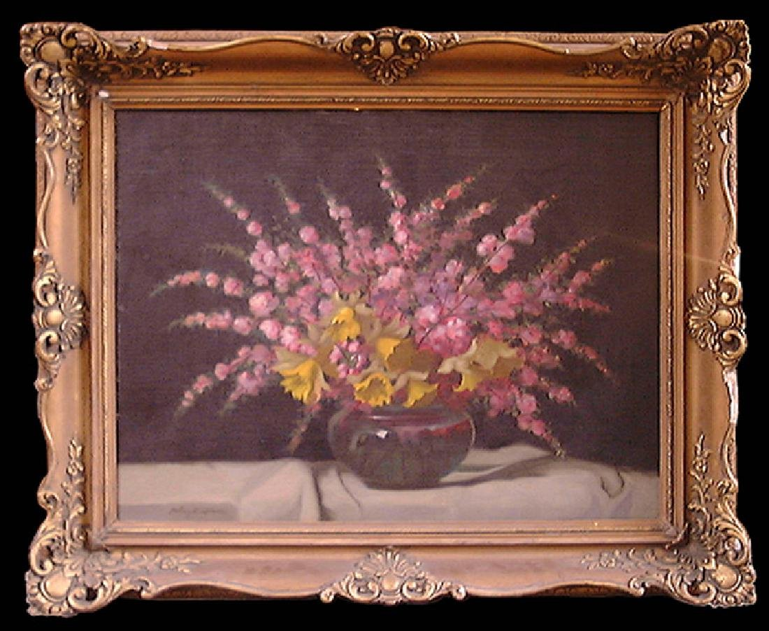 19th Century Oil on Canvas Still Life Painting by Janos