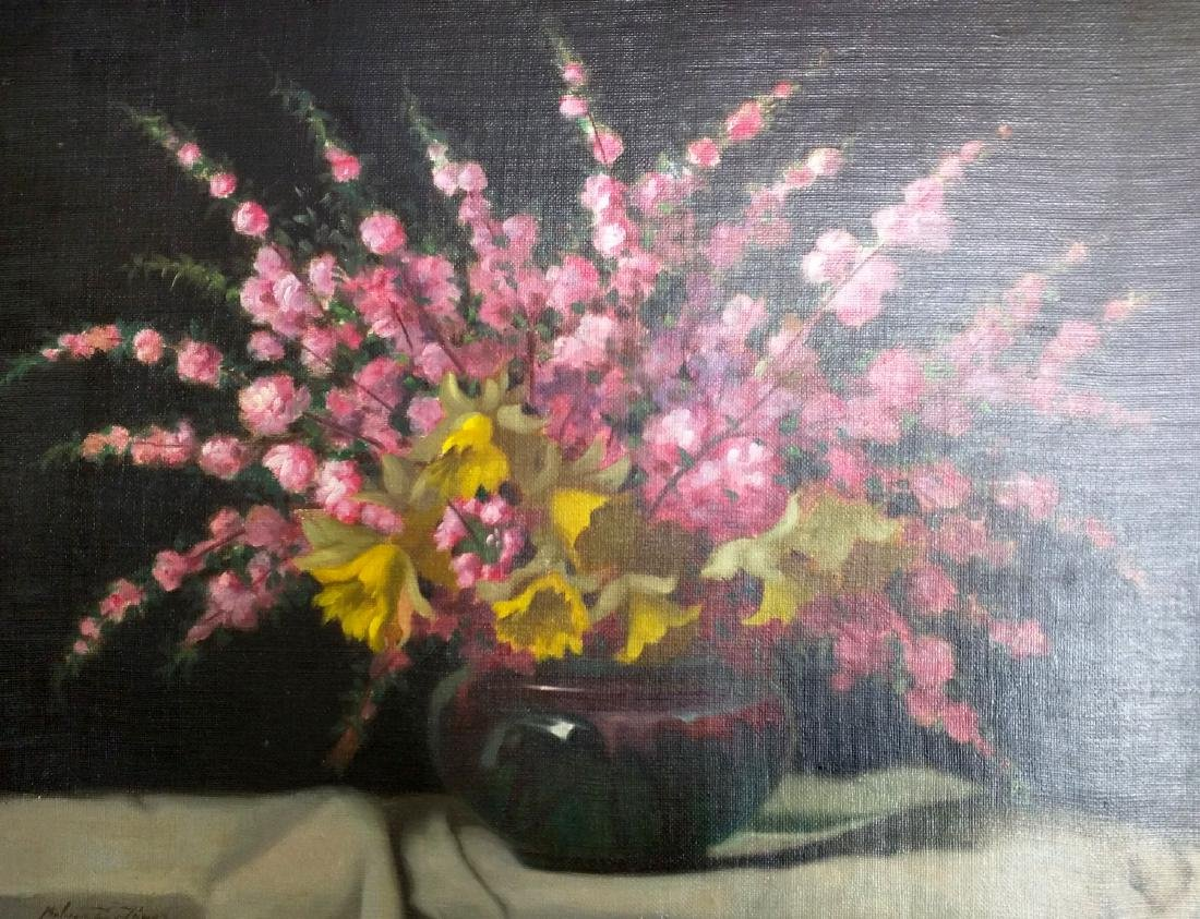 19th Century Oil on Canvas Still Life Painting by Janos - 2
