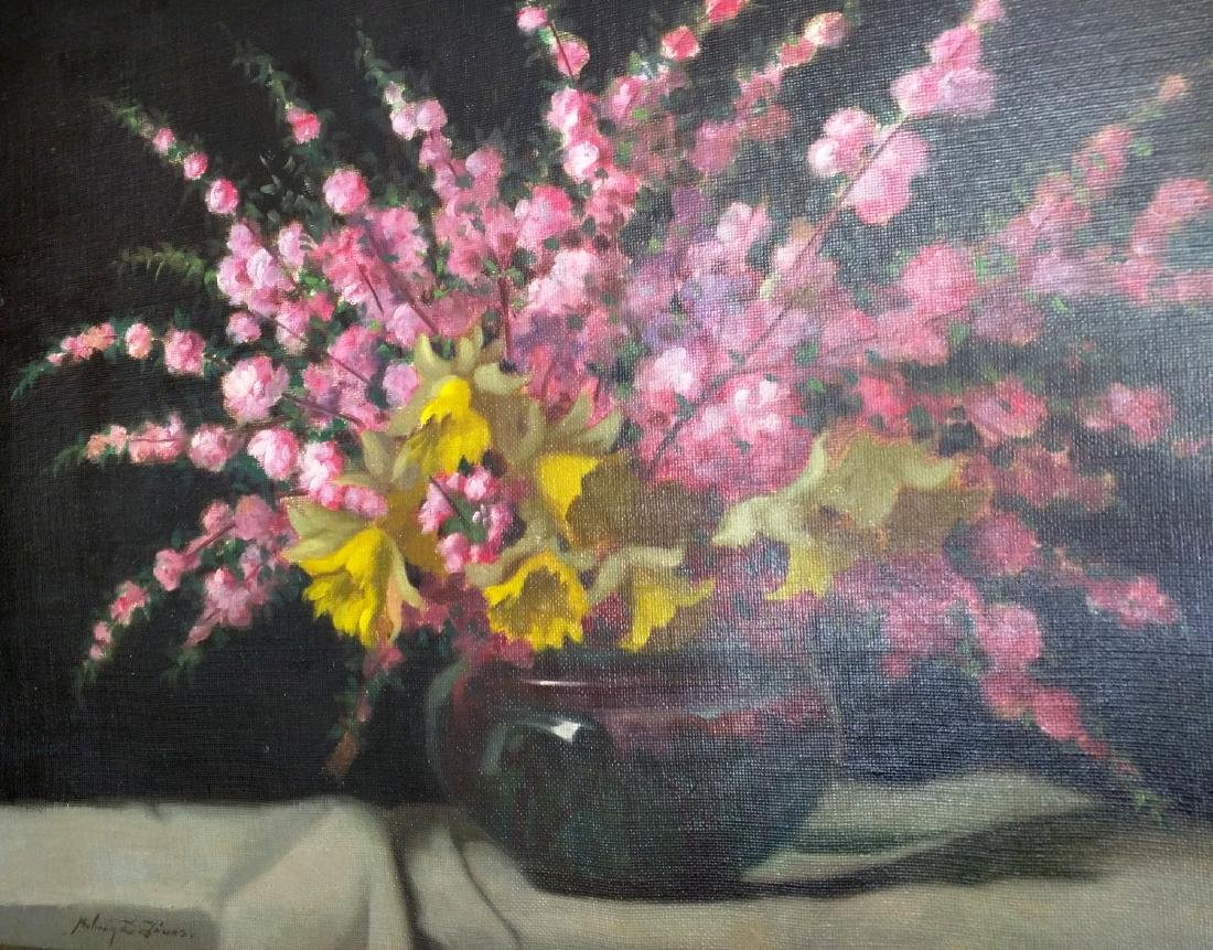 19th Century Oil on Canvas Still Life Painting by Janos - 4