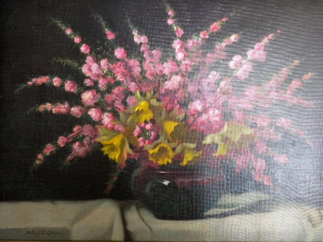 19th Century Oil on Canvas Still Life Painting by Janos - 5