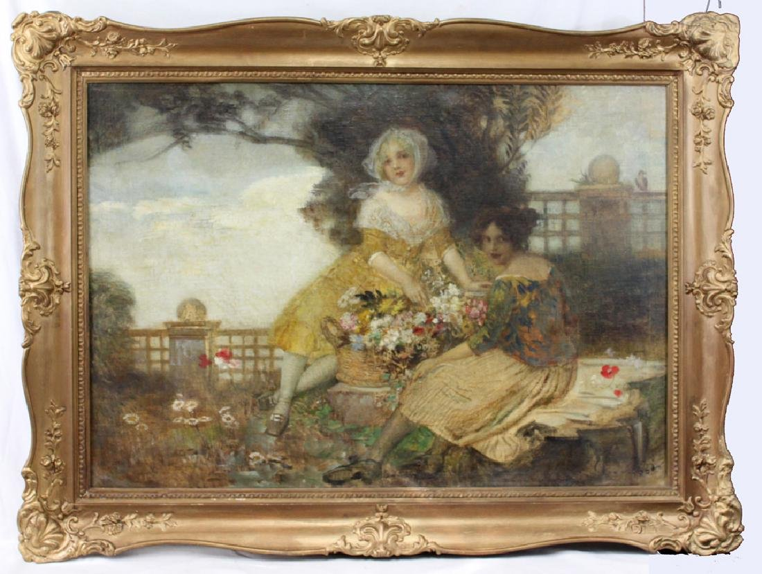 19 Century Austrian Oil On Canvas Painting By Edward